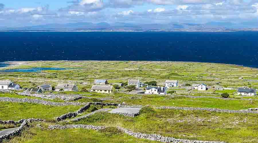 View of Aran Island coast