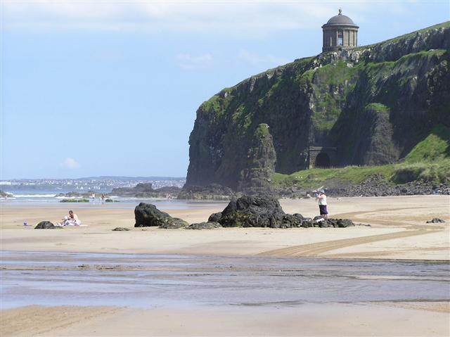 View of downhill beach