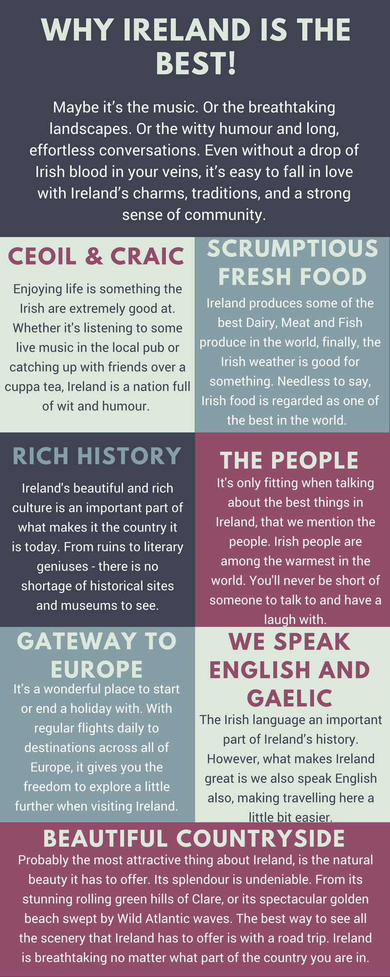 Reasons Ireland is the best infographic