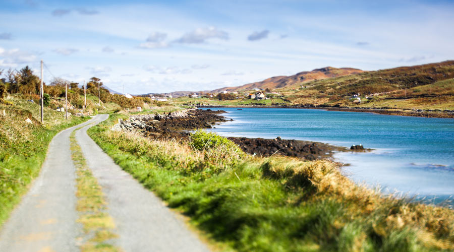 Scenic road in Clifden