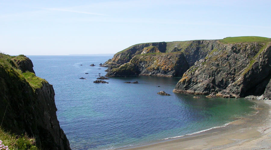 View of a beach on the Copper Coast