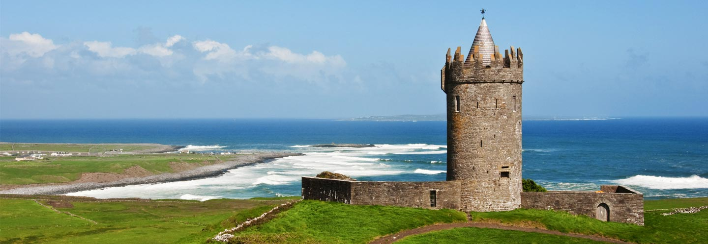 View of Doonegore Castle in Doolin