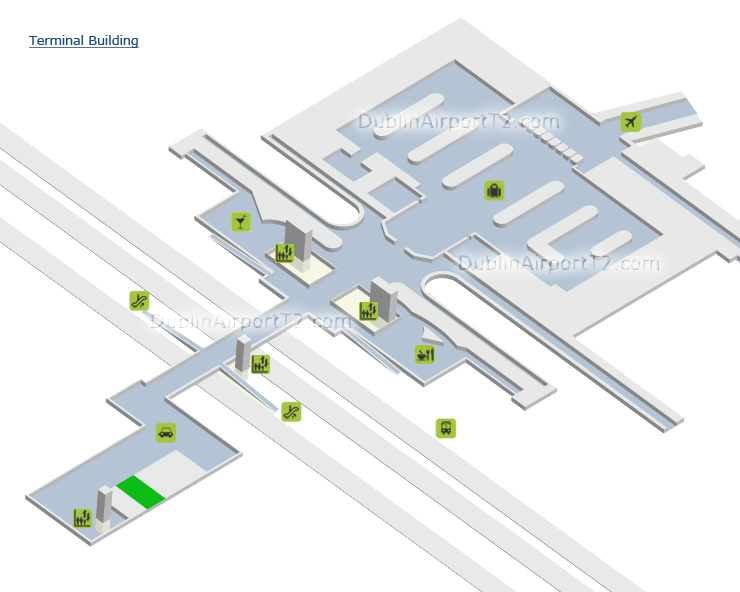 Map Of Ireland Knock Airport.Dublin Airport Terminal 1 And 2 Maps
