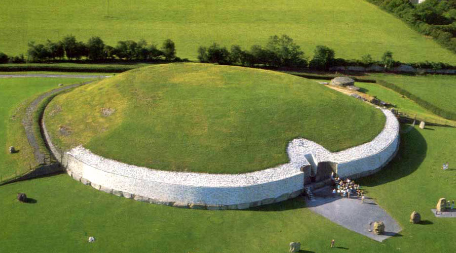 Arial view of Newgrange Hertiage Site